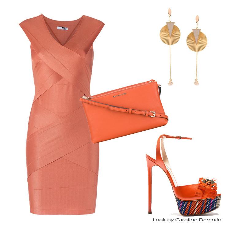 Personal shopper stylist laranja cor verao