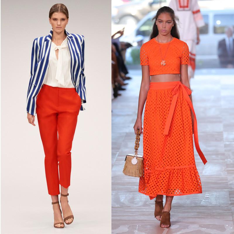 Laranja cor verao desfile escada spring 2018 tory burch ss 2017 personal stylist bh