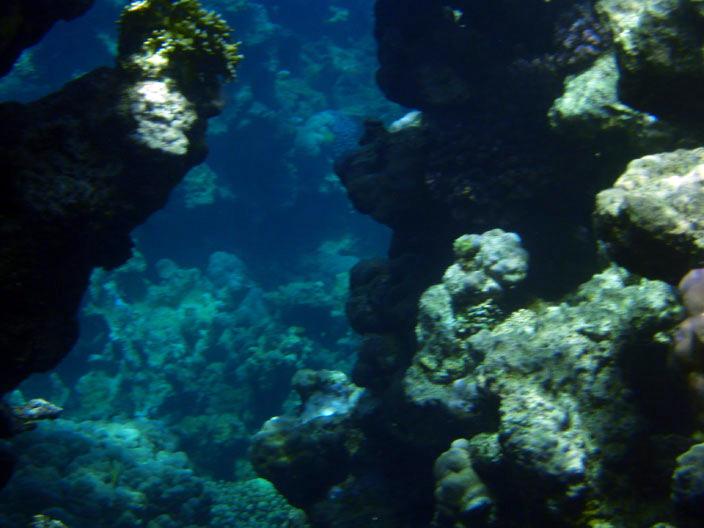 Подход к рифовой гряде