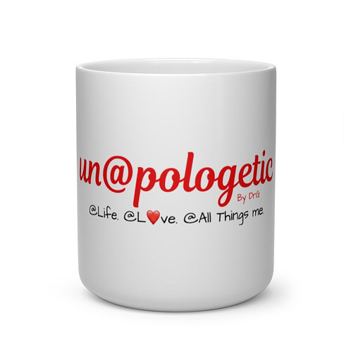 Red Un@pologetic Heart Shape Mug