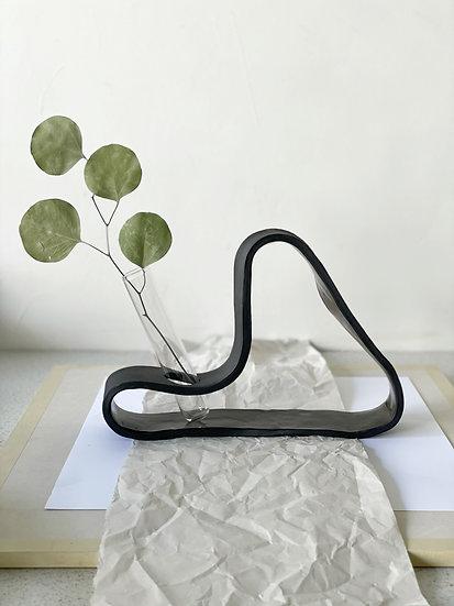 Midnight Organic Ribbon Vase