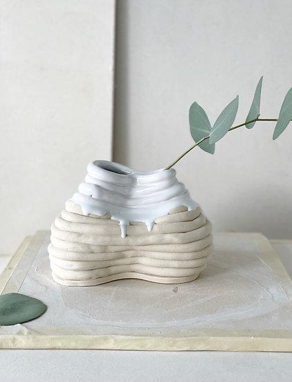 Organic Shaped Coil Vase