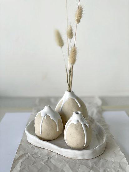 Ivory Splash Bud Vases