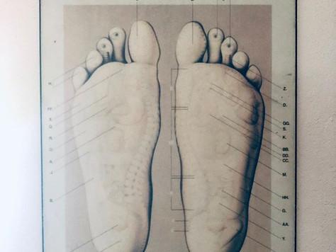 summer sun and foot scrubs
