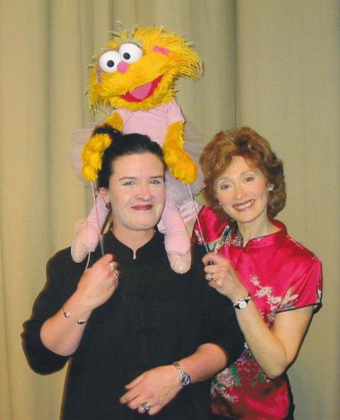 Carol w Zoe & Fran Brill