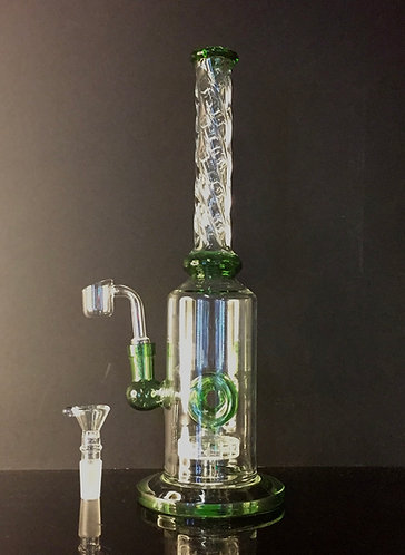 O shower head perk Green twisted dream water pipe