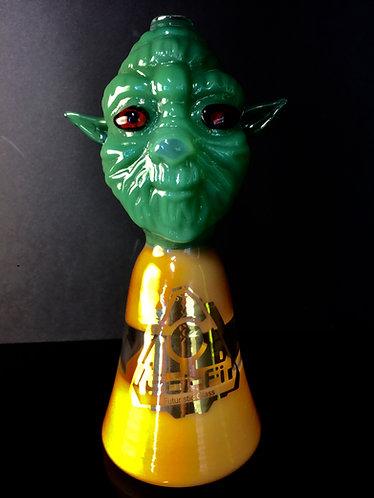 Sci-fi green head Halloween monster mask bub