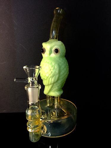 Owl streamline bub slime green