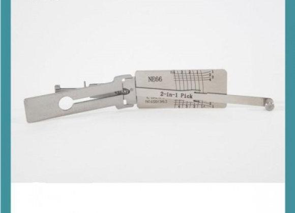 Original LISHI NE66 2-in-1 Auto Pick and Decoder for Volvo