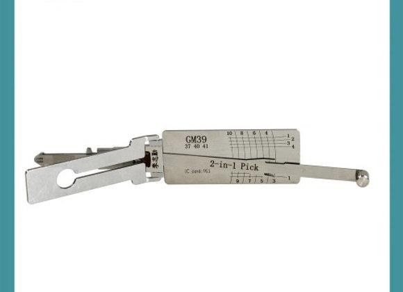 ORIGINAL LISHI GM39 / B106 / GM / 2 In 1 Pick & Decoder / Door & Trunk(non ward)