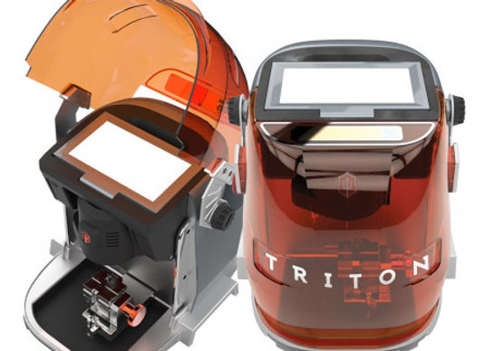 NEW! Triton Key Cutting Machine—One Machine Does It ALL!