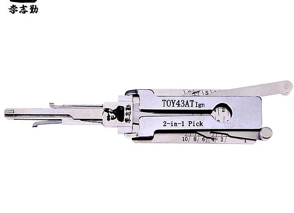 ORIGINAL LISHI TOY43AT Toyota / 10-Cut / 2-in-1 / Pick & Decoder / Ignition