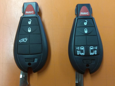 New Dodge, Chrysler, and Jeep Fobik Keys in Stock