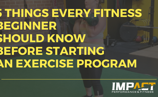 5 Things Every Fitness Beginner Should Know Before Starting An Exercise Program