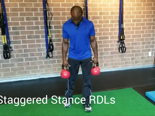 How To Do Staggered Stance Kettlebell RDLs