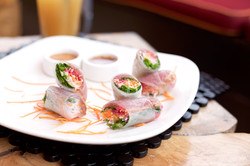 Spring Rolls with Seared Tuna