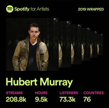 Hubert Murray Spotify Year Wrapped 2019