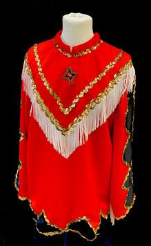 XXL Red and black western show shirt.jpg