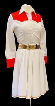 Red & white Shirt small - Skirt waist 31