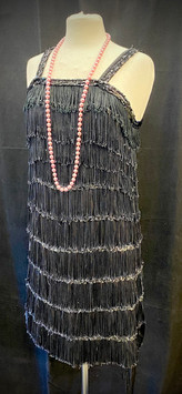 Chest 30 - fringe dress with sequin trim