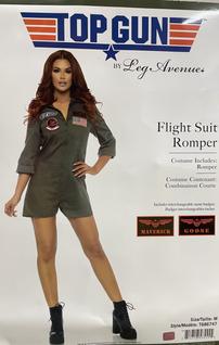 Top Gun Flight Suit Romper