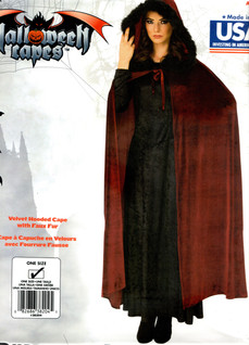 Fur lined Cape Red