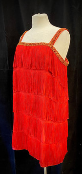 Chest 40 - Red and gold fringe flapper.j
