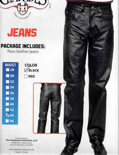 Pleather Jeans