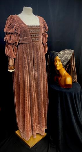Chest 32 waist 21 velvet gown.jpg