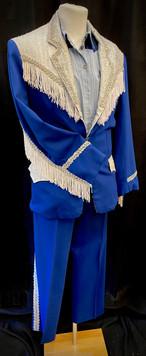 Chest 40 Waist 34 2 PC blue western suit