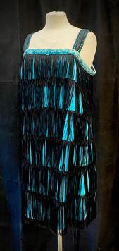 Chest 38 - Blue and black fringe flapper