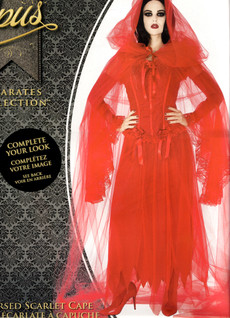 Red Tulle Cape