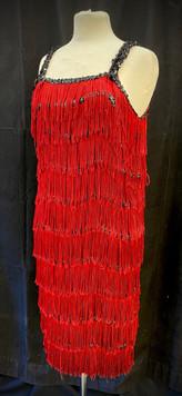Chest 40 - Red and black fringe flapper.