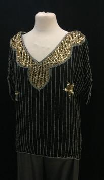 Chest 48 XXL - gold neckline with  lines