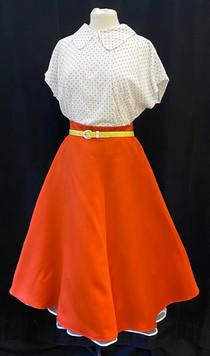 Skirt Small - Orange poodle skirt.jpg