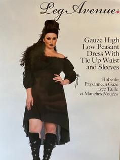 Peasant Dress Black plus