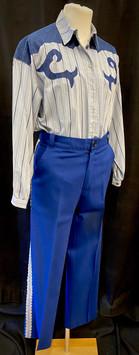 Blue shirt XXL - pants from 2 PC suit.jp