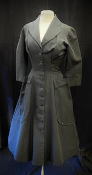 Chest 34 - black button down full skirt.