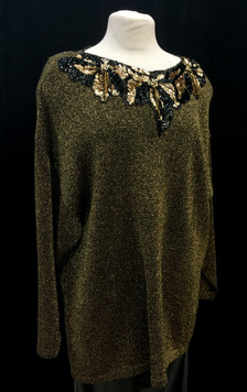 Chest 50 XXL 0 gold and black knit with