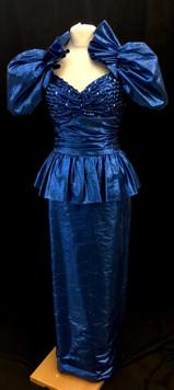 Chest 32 Waist 24 blue puff sleeve ruffl