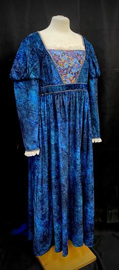 Chest 44 waist 37 blue crushed velvet go