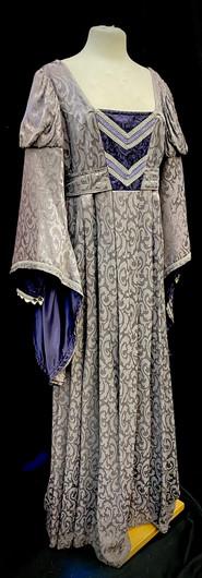 Chest 42 Waist 35 purple bell sleeve gow