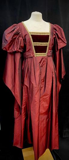 Chest 42 Waist 35 wine red gown.jpg