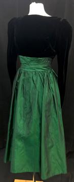 Chest 32 Waist 26 - black velvet green s
