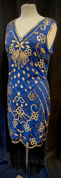 Chest 38 - Blue and gold beaded fringe f