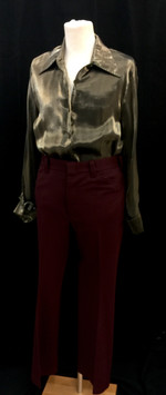 Gold shirt - Large, maroon pants - 36.jp