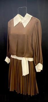 chest 36 waist 28 brown day dress