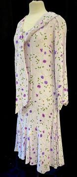 Chest 38 long sleeve light purple floral