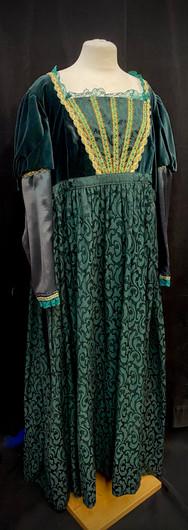 Chest 50 waist 48 green gown.jpg