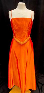 chest 36 waist 26 2 pc 90s formal orange